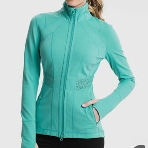 Zella Victory Active Teal Jacket Size Medium